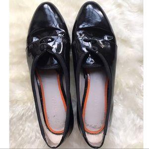 Jason Wu Terese Patent Black Leather Oxfords